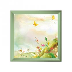 Sticker tableau campagne papillon vert
