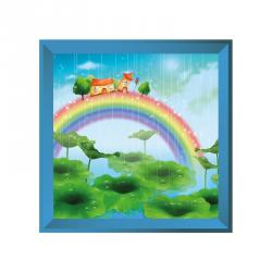 Sticker tableau campagne arc en ciel