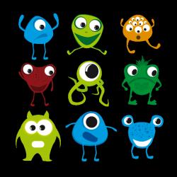 Sticker Petits monstres