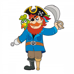 Sticker Pirate Barbe Rousse
