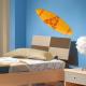 Planche de surf orange