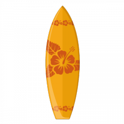 Sticker Planche de surf orange