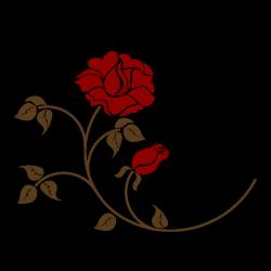 Sticker Rose rouge