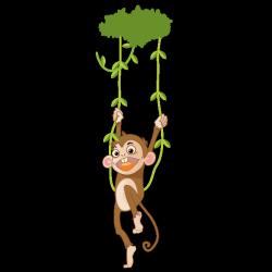 Sticker Coco le petit singe
