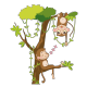 Coco et son ami dans la jungle