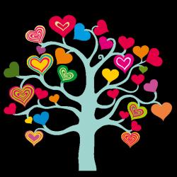 Sticker Arbre à Coeurs 1