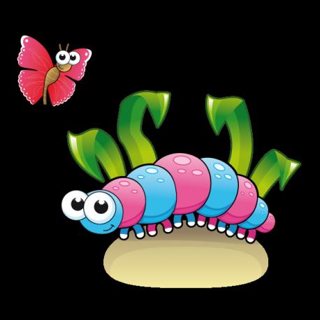 La Chenille et le papillon