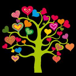Sticker Arbre à Coeurs 2