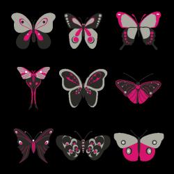 Sticker Papillons décoratifs