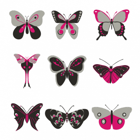 Papillons décoratifs