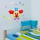 Clown et confettis