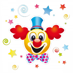 Sticker Clown et confettis