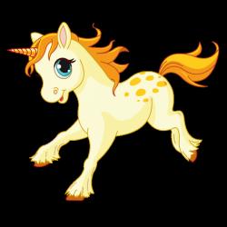 Sticker Petite licorne au galop