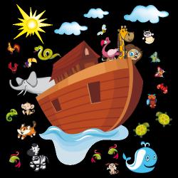 Sticker L'arche de Noé