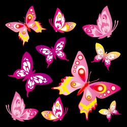 Sticker Envol papillons