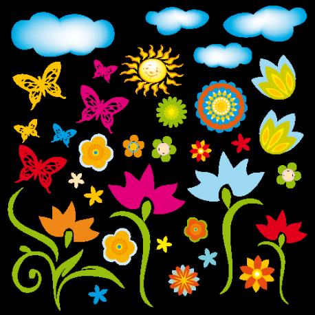 Sticker bouquet fleuri for Bouquet fleuri