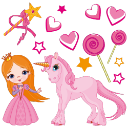 Sticker Le monde gourmand de Princesse Lili