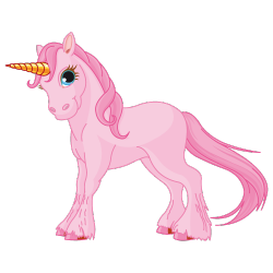 Sticker Licorne rose
