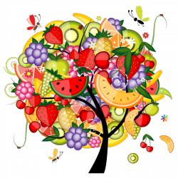 Sticker Arbre de fruits