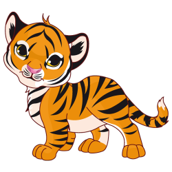 Sticker Petit tigre