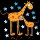 Girafes et étoiles