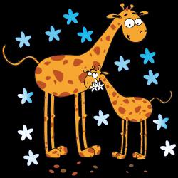 Sticker Girafes et étoiles