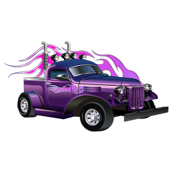 Sticker Hot rod