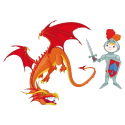 Sticker Le chasseur de dragon