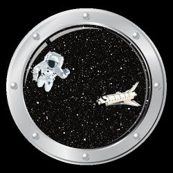Sticker Explorateur de l'espace