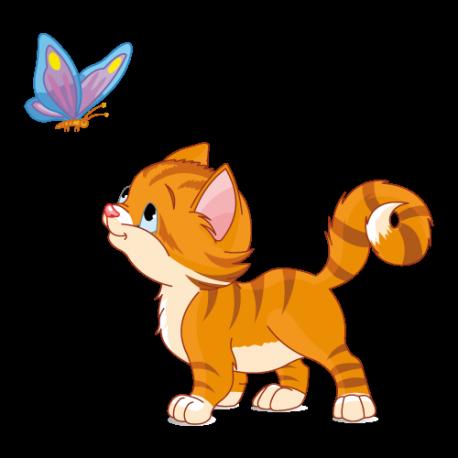 Chaton et papillon