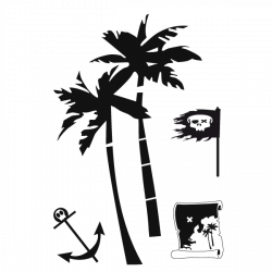Sticker Accessoires de piraterie