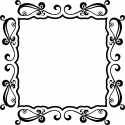 Sticker Cadre arabesque