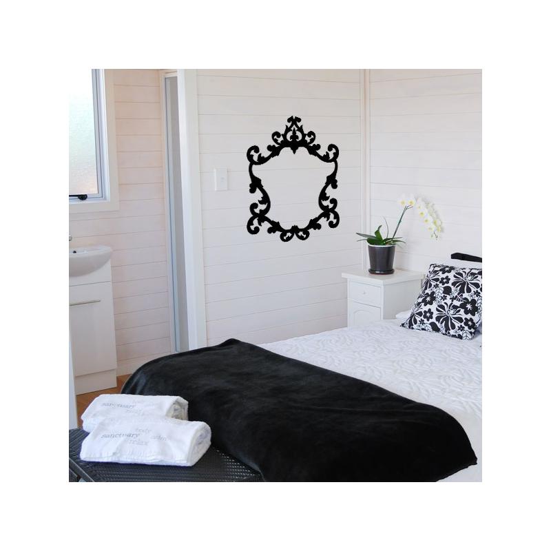 sticker cadre baroque. Black Bedroom Furniture Sets. Home Design Ideas