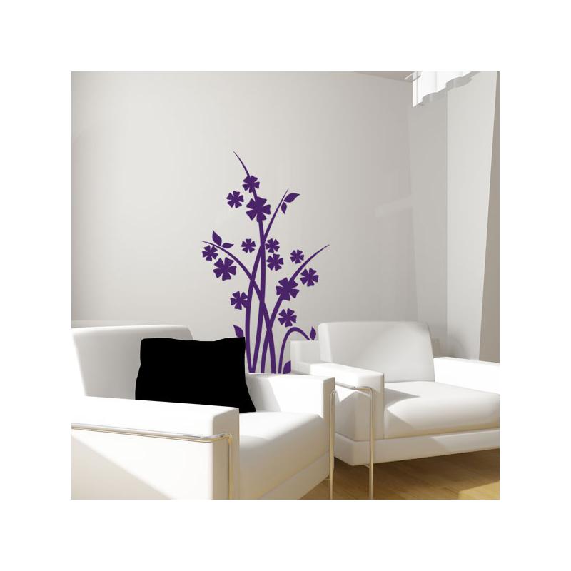 sticker fleurs des pr s. Black Bedroom Furniture Sets. Home Design Ideas