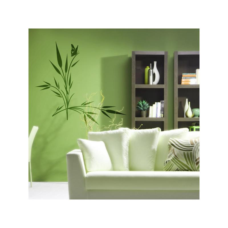 sticker pis de bl et papillon. Black Bedroom Furniture Sets. Home Design Ideas