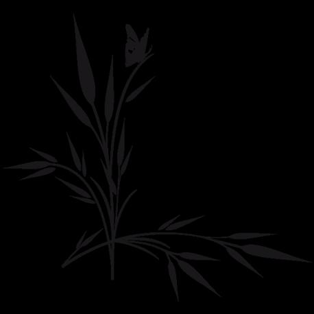 Sticker Epis de blé et papillon