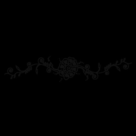 Sticker Fleur au henné