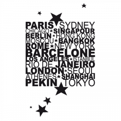 Sticker Villes du Monde