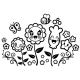 Sticker Fleurs magiques