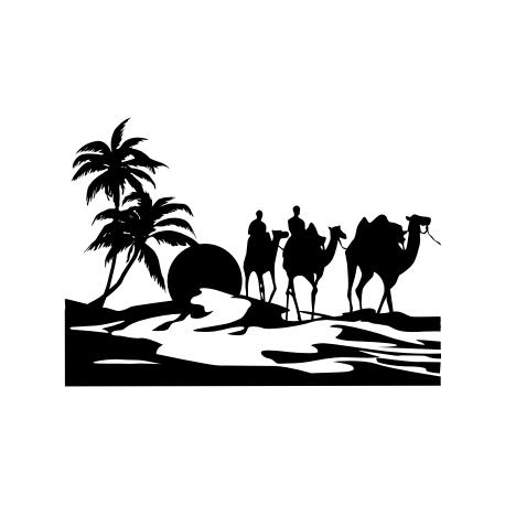 Sticker Paysage du désert