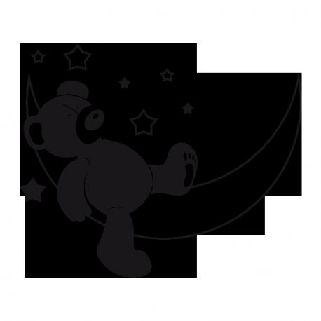 Sticker Ourson lune