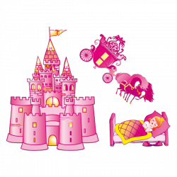 Sticker Château et sa Princesse