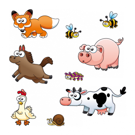Sticker Les amis les animaux