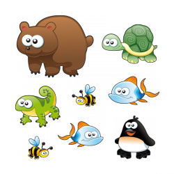 Sticker Animaux sauvages