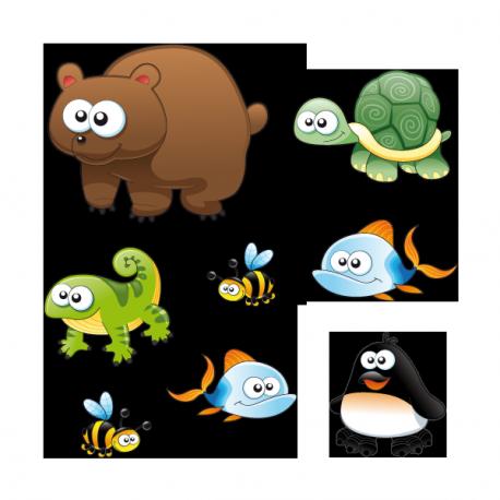 Sticker Animaux sauvages