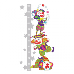 Sticker Toise clowns acrobates