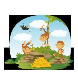 Sticker Les petits singes